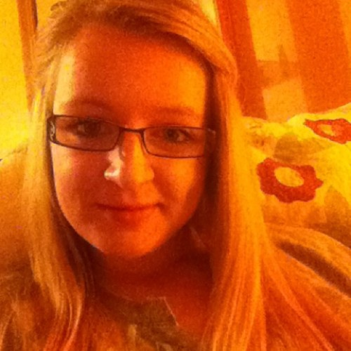 whiskey-drinking:  #selfie #bored #waiting #watchingtv #blonde #glasses #wednesday  Waiting for jake lol