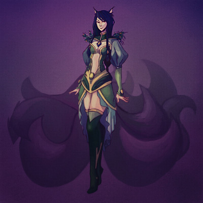 weagueofwegends:  [x] Ahri Green Theme