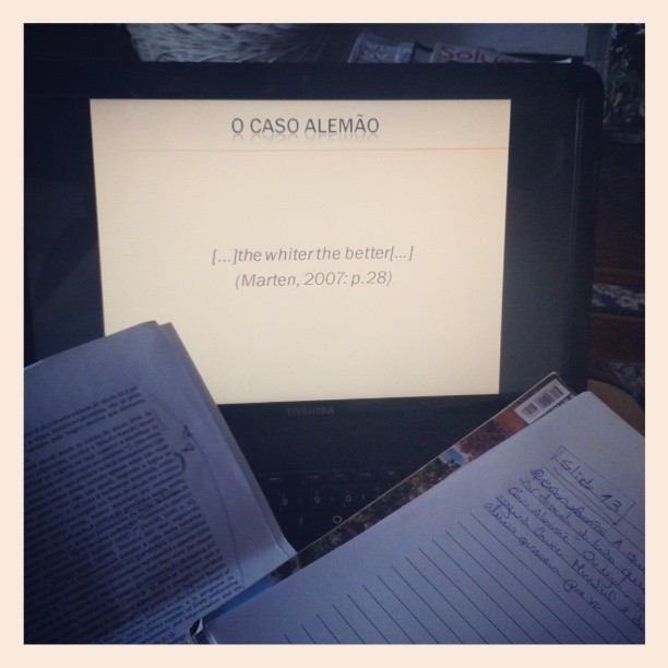 calonari:  Preparing my oral apresentation for tomorrow #nervous  Good luck! I just taught an entire semester of a lecture class (and defended a chunk of my thesis) and I still get nervous. (It gets better eventually but I think a lot of it is learning how to fake people into thinking you aren't nervous… :)