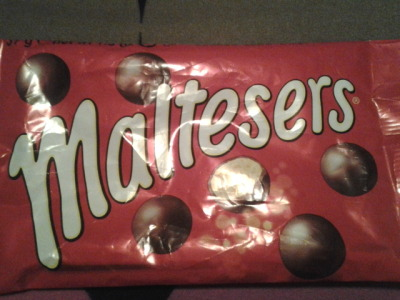 Mwahahahahaha, I shall eat all of	 Maltesers in the world!