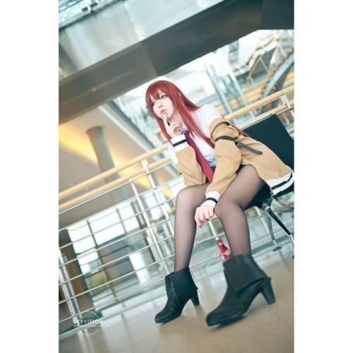 cosplay babe cosplay girl leggings cute cosplay makise kurisu steins;gate