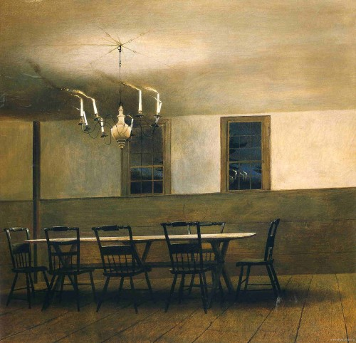 bizarrereverie:  Andrew Wyeth, Witching Hour (1977)