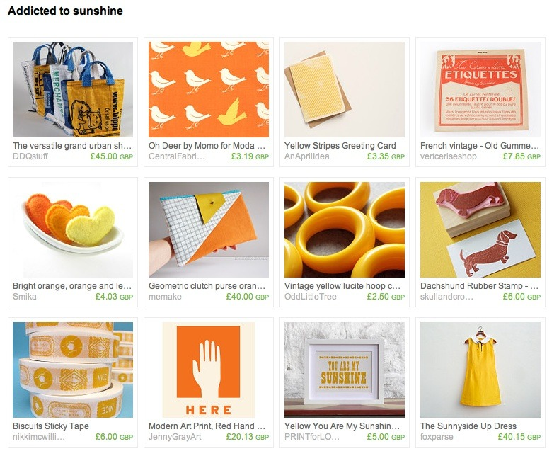 Addicted to sunshine - Etsy treasury featuring my geometric clutch
