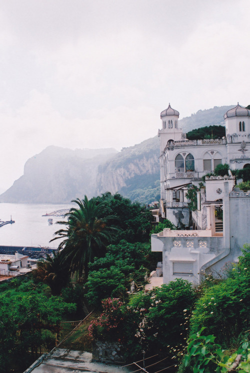 "centzo:  untitled  by Monica Forss on Flickr.   Sigh, Capri. When I took Home Ec in middle school, we had to do some project that involved ripping photos/ads out of old magazines from the 70's and 80's. I found a cigarette ad, for Virginia Slims or something, that had the tagline ""She's going to Capri and she's not coming back!"" And it was like the heavens opened up and a choir of angels sang out and I knew I would spend the rest of my life in pursuit of that Virginia Slims tagline.  HOLD UP I just found photos of the original ad (it was a whole campaign!) online—the tagline is actually ""gone to Capri"" which explains why I had trouble googling it before. Images to come."