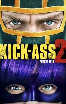 philcore13th:  Kick-Ass 2 Premiers August 16, 20133Starring: Aaron Johnson, Chloe Grace Moretz, Christopher Mintz-Plasse, John Leguizamo, Nicolas Cage, Lyndsy Fonseca, Donald Faison, Jim Carrey, Lindy Booth, Morris Chestnut, Yancy ButlerDirected by: Jeff Wadlow Kick-Ass, Hit Girl and Red Mist return for the follow-up to 2010's irreverent global hit: Kick-Ass 2. After Kick-Ass' (Aaron Taylor-Johnson) insane bravery inspires a new wave of self-made masked crusaders, led by the badass Colonel Stars and Stripes (Jim Carrey), our hero joins them on patrol. When these amateur superheroes are hunted down by Red Mist (Christopher Mintz-Plasse)—reborn as The Mother F%&*^r—only the blade-wielding Hit Girl (Chloë Grace Moretz) can prevent their annihilation. When we last saw junior assassin Hit Girl and young vigilante Kick-Ass, they were trying to live as normal teenagers Mindy and Dave. With graduation looming and uncertain what to do, Dave decides to start the world's first superhero team with Mindy. Unfortunately, when Mindy is busted for sneaking out as Hit Girl, she's forced to retire—leaving her to navigate the terrifying world of high-school mean girls on her own. With no one left to turn to, Dave joins forces with Justice Forever, run by a born-again ex-mobster named Colonel Stars and Stripes. Just as they start to make a real difference on the streets, the world's first super villain, The Mother F%&*^r, assembles his own evil league and puts a plan in motion to make Kick-Ass and Hit Girl pay for what they did to his dad. But there's only one problem with his scheme: If you mess with one member of Justice Forever, you mess with them all.