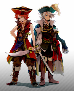 redheadedbishies:  Pirate chaos by:  ユポポ