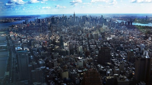 Manhattan as seen from the new World Trade Center.