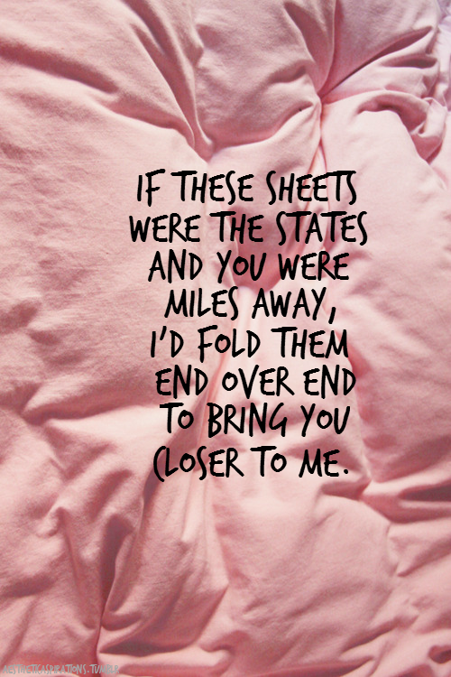 "aestheticaspirations:  Song: ""If These Sheets Were States"" - All Time Low Image from: localfoxes"