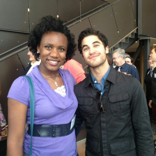 "sky_ozoh3: ""Met Darren Criss from Glee at University of Michigan!"""