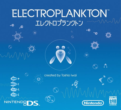 gameandgraphics:  Japanese box art for Electroplankton (Toshio Iwai and Nintendo for NDS, 2005) Neat graphic design for one of the best and peculiar experiences you can get on a Nintendo DS.