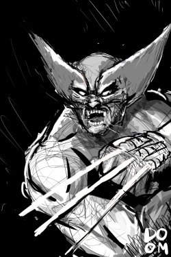 herochan:  Sketch Sunday: Wolverine Created in Manga Studio 5 Sketch by Dooms Daily