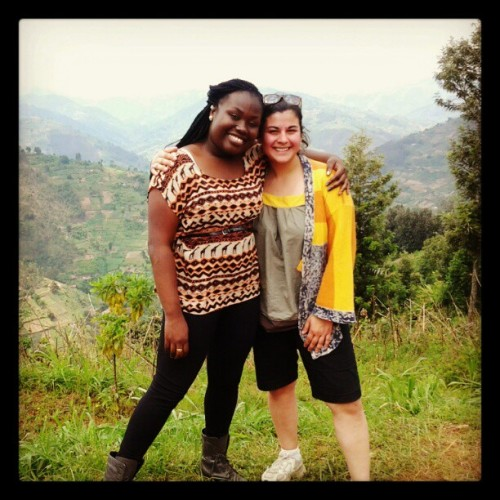With My Lovely Al on  the Mountainside in Rwanda @amo1924