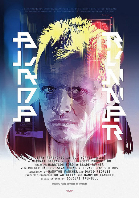 scifisweetheart:  cultclassicmovies:  Blade Runner by Guto Xavier on Flickr.  All those moments will be lost in time, like tears in rain.