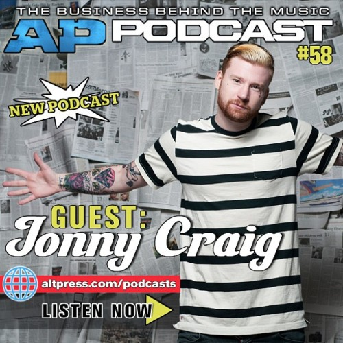 Listen to the new AP podcast featuring Jonny Craig on altpress.com/podcasts now! #altpress #jonnycraig
