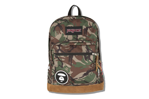 AAPE x JanSport  two backpacks coming in camo styles featuring the AAPE logo patch.  click here for more pics, and grab these starting May 25th