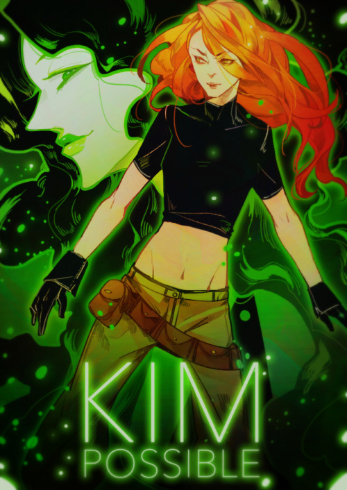 duckhymn:  Warm up drawings : Kim Possible. I still adore this show like no other.