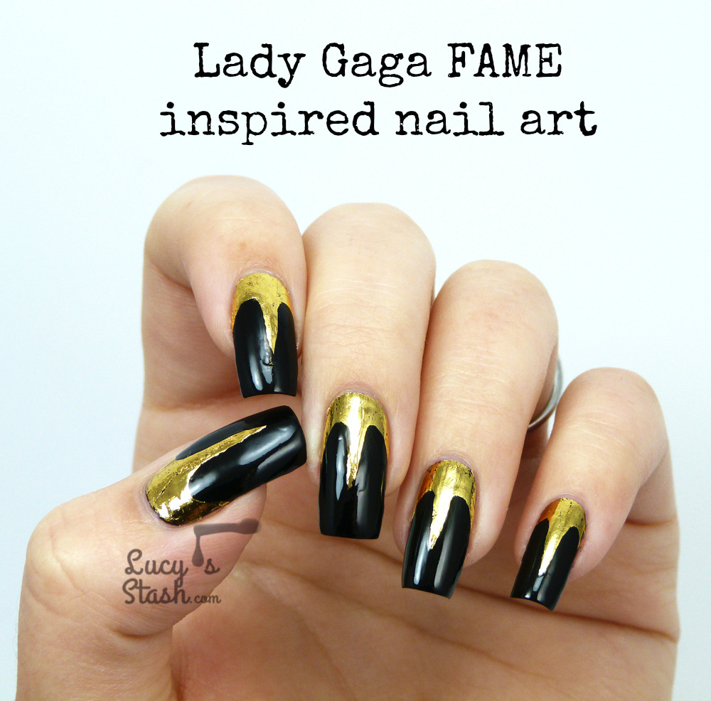 Lady Gaga Fame Perfume Inspired Nail Art with Video TUTORIAL: http://ift.tt/1aTcL16