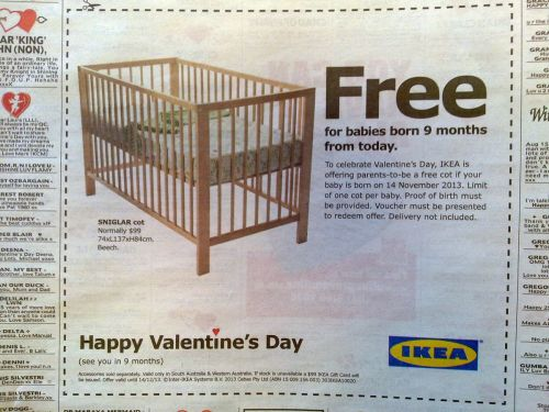 Nice Valentine's Day promotion stunt from Ikea