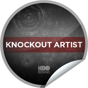 I just unlocked the HBO Boxing: Knockout Artist sticker on GetGlue                      1877 others have also unlocked the HBO Boxing: Knockout Artist sticker on GetGlue.com                  You're a knockout artist! That's 15 check-ins to HBO Boxing.  Share this one proudly. It's from our friends at HBO Sports.