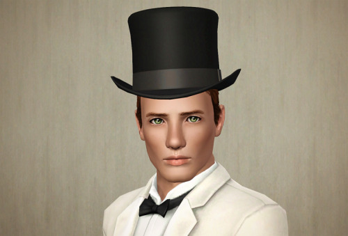 Top Hat Add a touch of class with this top hat. Ideal for your vintage style. (Sims 3 Store Hair Catalog Project)