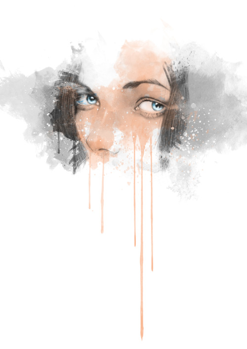 IN MY EYES by Arnaud Gomet Mixed/Media - Pencil and Photoshop Artist: Tumblr / Behance