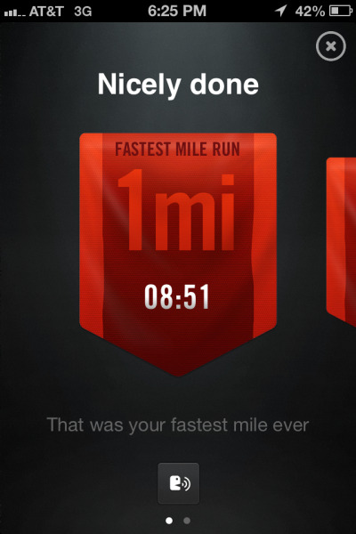 I've been running consistently, I've just been way too busy to even check Tumblr. This happened today :) 10K get at me!