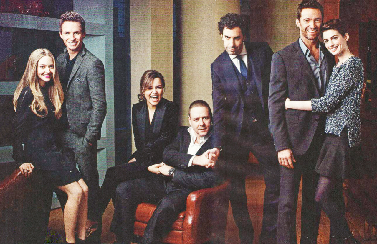 Les miserables cast on People magazine December 24, 2012.