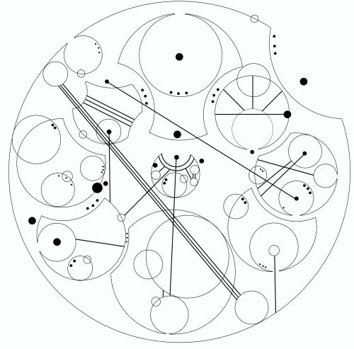 ((OOC: Jumping on the Gallifreyan bandwagon, here. I don't even watch Doctor Who, but I think the language looks SO COOL. Here's Mitta's code: Honor, Duty, Dignity, Faith, Order, Justice, Loyalty, Courage and Compassion all inside of Freedom. I made this in Jasc PaintShop Pro with the Gallifreyan directions on this site.))