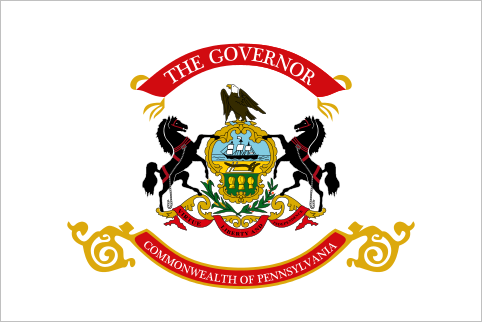 Governor of Pennsylvania Just in case you were wondering, this flag belongs to THE GOVERNOR.