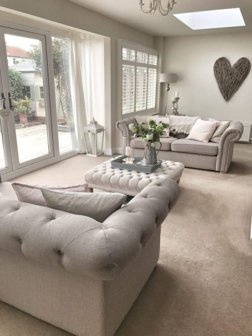 french cottage country cottage shabby chic vintage taupe living room