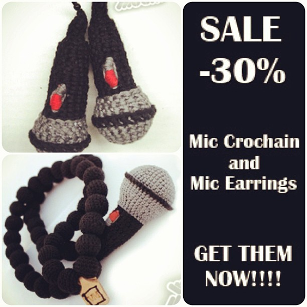 SALE!!! Www.very-much.eu #sale #30% #off #mic #crochain #earrings #jewelry #urban #schmuck #knitted #crocheted #schmuck #strick #verymuch #hiphop