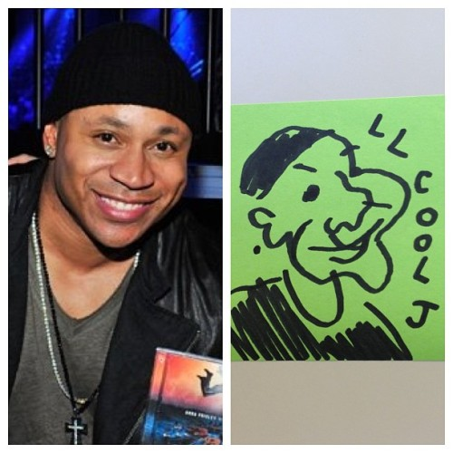 LL Cool J helped Brad Paisley make a terrible country song. I drew him with my eyes closed.