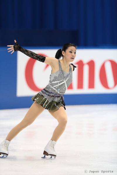 Chisako Kiuchi skating her Sabre Dance short program at the 2011 Japanese Nationals.
