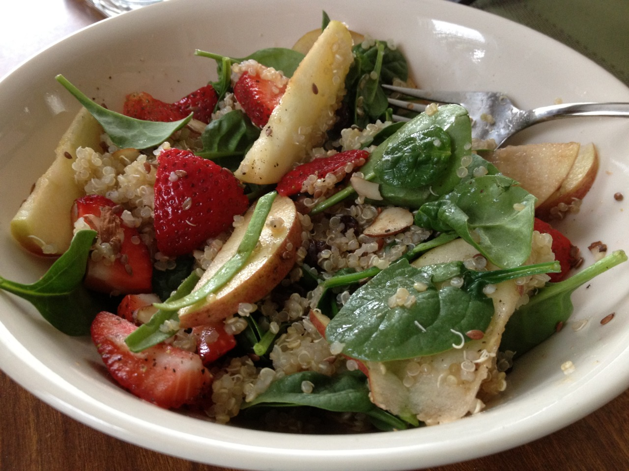 Quinoa salad with fruit