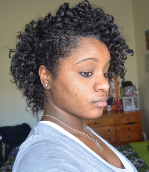 Twist-Out on 3rd day hair. w/ Shea Butter, EVOO, and Olive Oil Eco Styler Gel Just used water to detangle before applying products and twisting.
