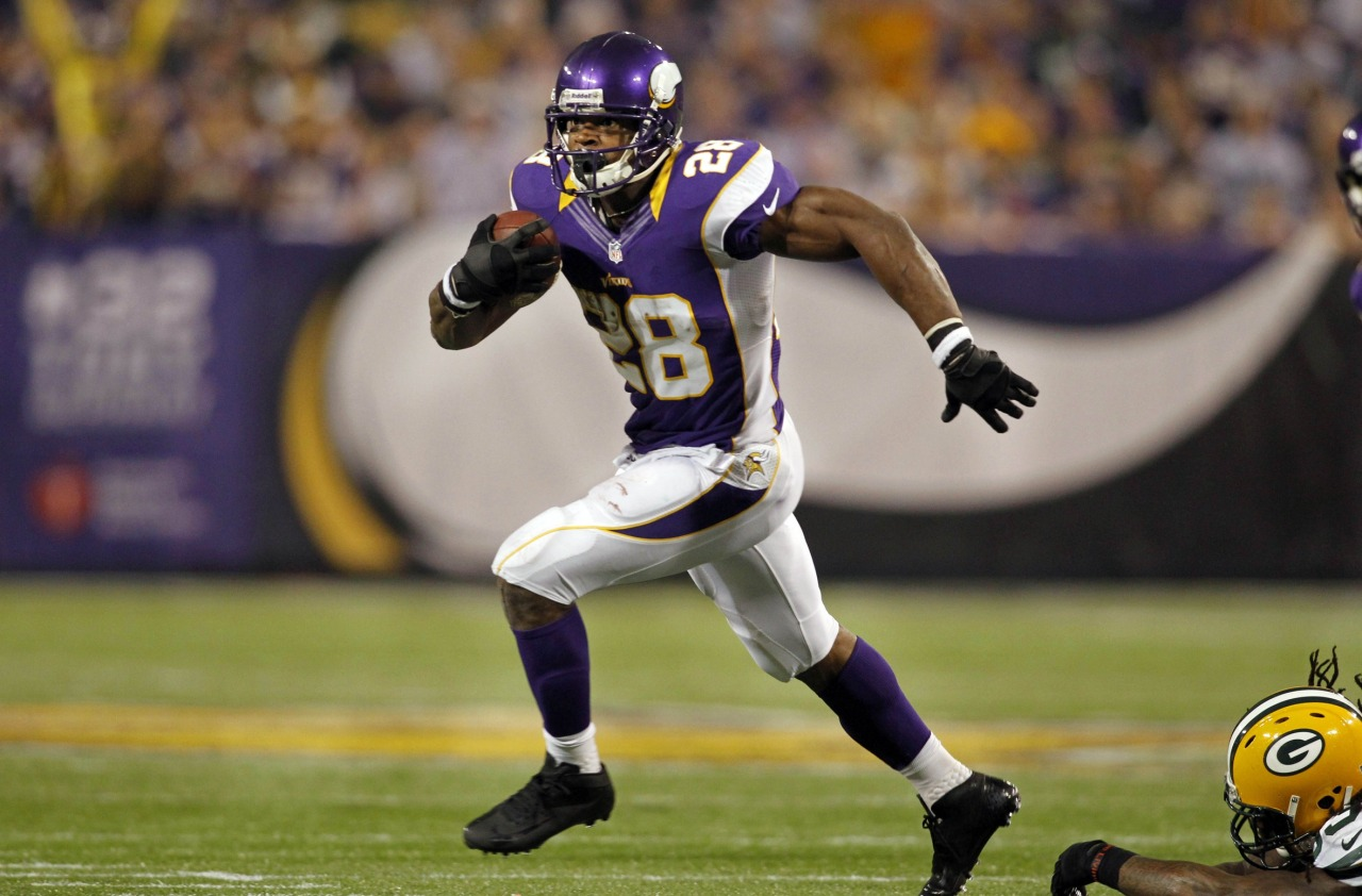 What's more likely this season: Adrian Peterson rushing for 2,500 yards or the Vikings winning the Super Bowl?