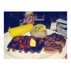 Ribs x steaks  (at Tony Roma's)