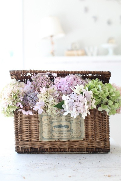 precious diy decor with hydrangea