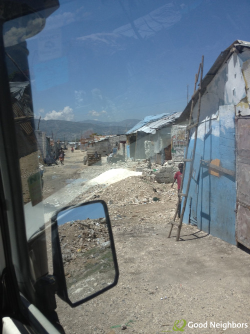 A glimpse into the slums of Haiti. Here, we drove through Cite Soleil last week, where families live among rubble in homes made of little more than sheet metal. One of the videos we're working on will focus on the living conditions of the people in Haiti and how we're building new shelters for them. #HaitiFilmingTrip