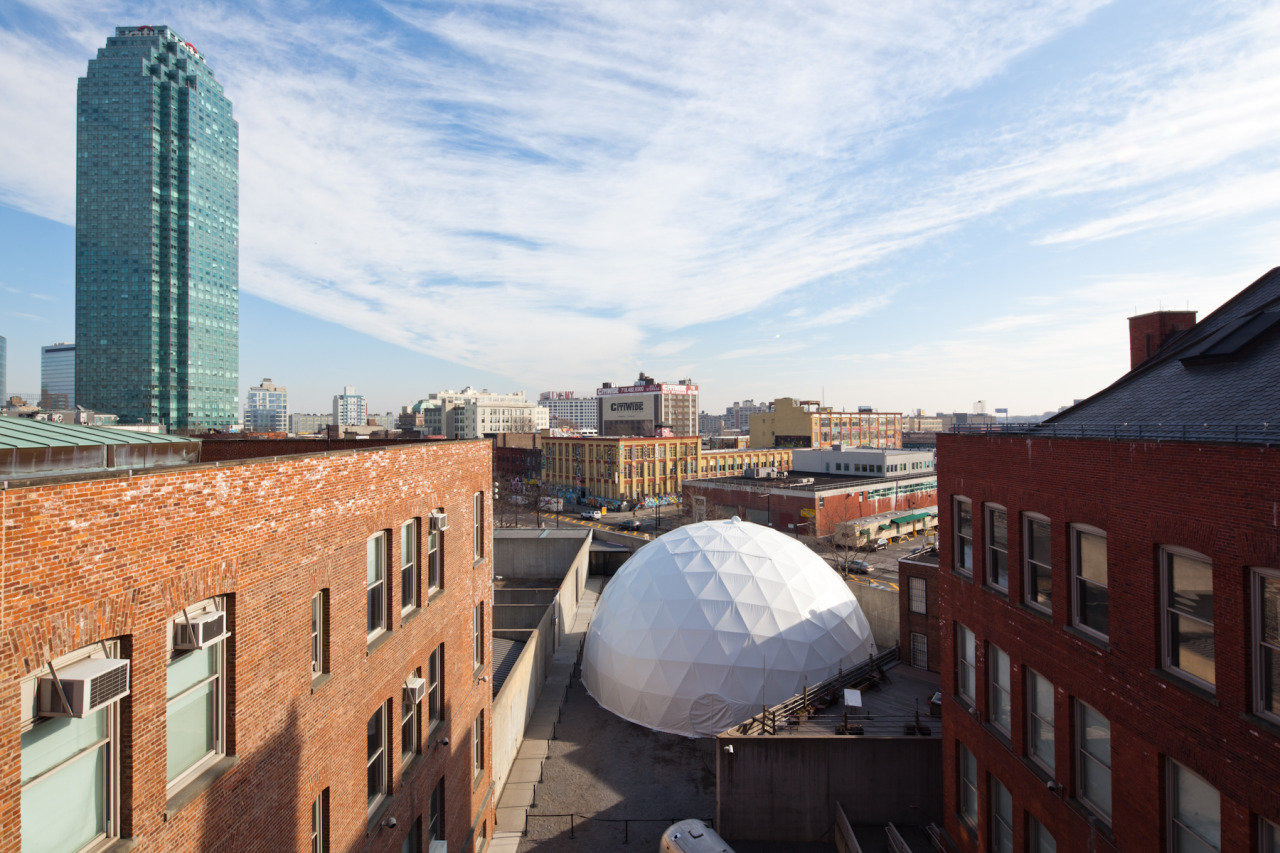 "Happy birthday to the VW Dome at MoMA PS1, which made it's ""official"" debut in our courtyard one year ago today at our 2012 Winter Open House and kicked-off Sunday Sessions! Our weekly Sunday Sessions series is an amalgam of artistic programming—from light, sound, and music installations to lectures by world-renowned scholars and special performances.   VW Dome at MoMA PS1, 2012. Photo: ELK Studios. The VW Dome at MoMA PS1 is made possible by a partnership with Volkswagen of America."