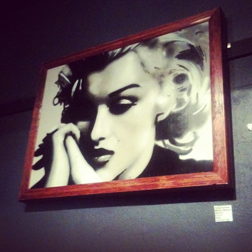 Beautiful spray painted Marilyn, by Tehya Sullivan  (at Re-Bar)