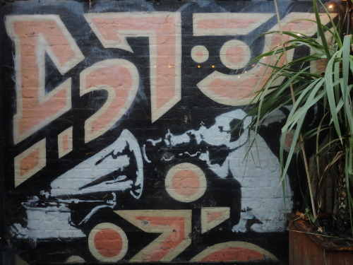 streetartcollection:  Banksy at Cargo - HMV Logo (Photo Harun O.)  I queued this before we went into administration.