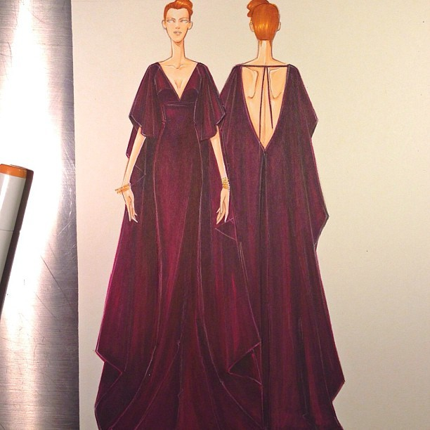 Caped Evening Gown : re-edit …I'll get to scanning this in eventually