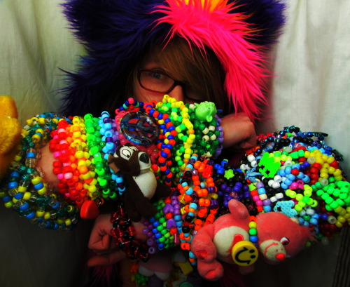This raver is awesome…*PLURTASTIC*…so digging the Care Bear with the big smiley face!