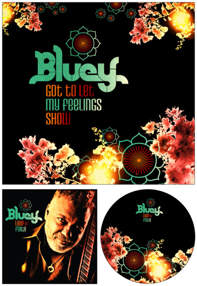 New designs for Bluey / Leap of Faith album and single.