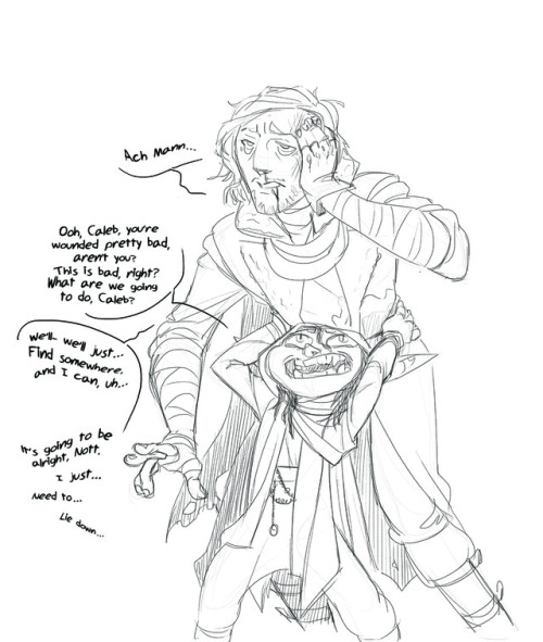 my art I love them!! critical role these two hit some of my favorite tropes found family monster girl person who shouldn& 039;t be in charge of children is (Caleb& 039;s good but they do still get into tons of trouble) soft spoken soft guy love them
