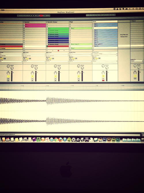 Working on new ringtone pack.