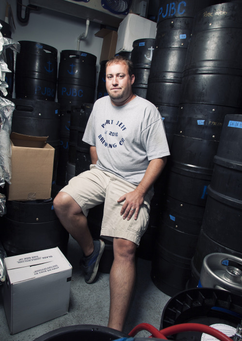Mike Philbrick, brewmaster @portjeffbrewing - One of the contributors to the Sandy Relief Beer. Photo by Matt Furman