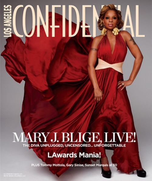Mary J. Blige featured in the newest issue of LA Confidential.