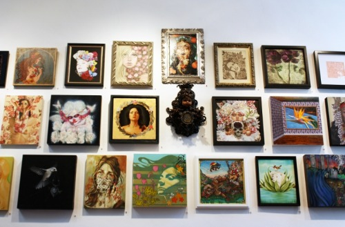 The gallery is in full bloom! The Language of Flowers: Group Exhibition opens TONIGHT!